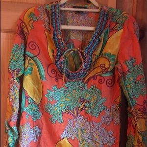 Tops - Long sleeve beach cover up